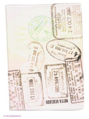 Обложка для автодокументов Загран Mitya Veselkov. Цвет: коричневый, розовый, зеленый
