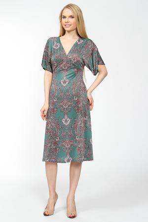Приталенное платье со свободными рукавами Arrangee. Цвет: зеленый