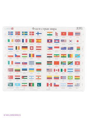 Пазлы Флаги LARSEN AS. Цвет: белый