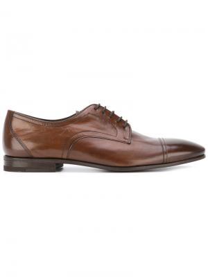 Туфли дерби Sabates Henderson Baracco. Цвет: коричневый