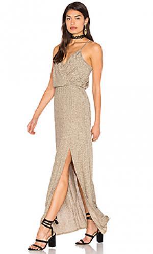Макси платье cindelle Ella Moss. Цвет: беж