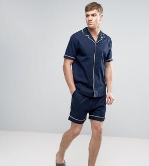 ASOS Тканые пижамные шорты. Цвет: бежевый