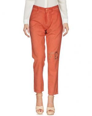 Повседневные брюки FOUDESIR. Цвет: ржаво-коричневый