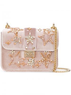Прямоугольная сумка с декором из звезд Emanuela Caruso. Цвет: розовый и фиолетовый