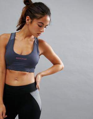 Elle Sport Розовый поддерживающий бюстгальтер s. Цвет: серый