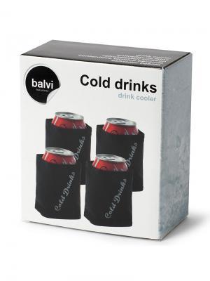 Охладитель напитков Cold Drinks 4шт. Balvi. Цвет: черный