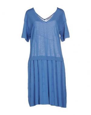 Короткое платье ANNAPURNA. Цвет: лазурный