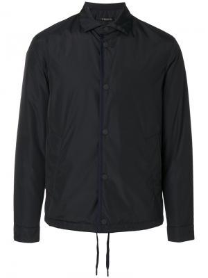 Нейлоновая куртка-рубашка Z Zegna. Цвет: чёрный