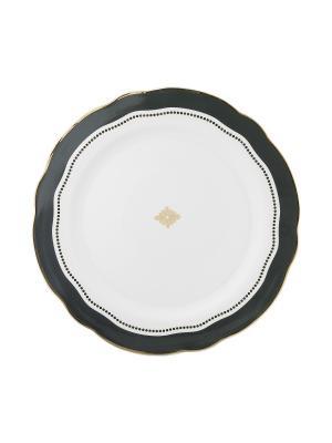 Набор из 2-х больших тарелок Marais Grey MollyMarais. Цвет: темно-синий, белый