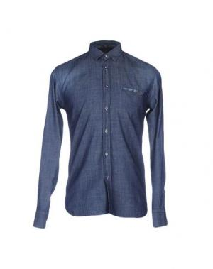 Джинсовая рубашка JEY COLE MAN. Цвет: синий