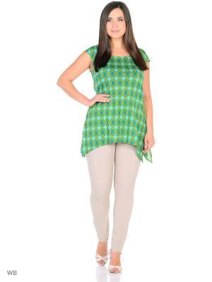 Блузка BERKLINE. Цвет: зеленый