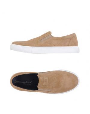 Низкие кеды и кроссовки FABIANO RICCI. Цвет: песочный
