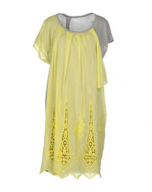 Короткое платье ZUCCA. Цвет: желтый