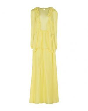 Длинное платье DANIELE CARLOTTA. Цвет: желтый