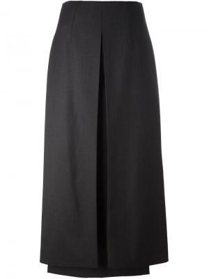 Длинная юбка с панельным дизайном Aalto. Цвет: чёрный