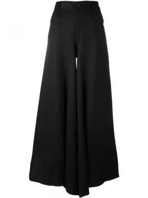 Сильно расклешенные брюки Mm6 Maison Margiela. Цвет: чёрный