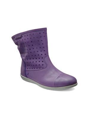 Полусапожки ECCO. Цвет: фиолетовый