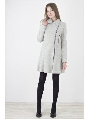 Пальто Elema. Цвет: светло-серый