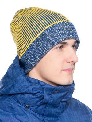 Шапка BRUNOTTI. Цвет: синий, желтый