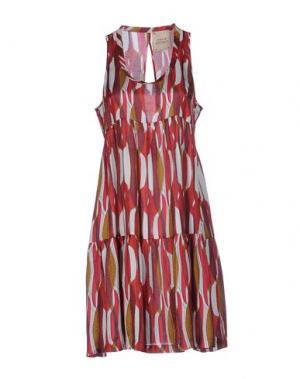 Платье до колена GARAGE NOUVEAU. Цвет: кирпично-красный