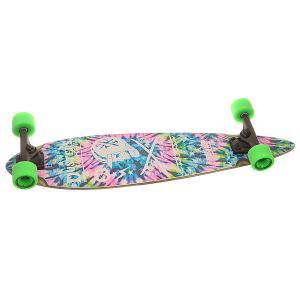 Скейт круизер  Moto Longboard Neon Tie Dye 8.25 x 34 (86.3 см) Dusters. Цвет: мультиколор