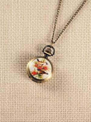 Кулон-часы Летние птички Mitya Veselkov. Цвет: бронзовый