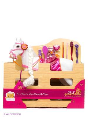 Лошадь с длинной гривой OG Dolls. Цвет: белый