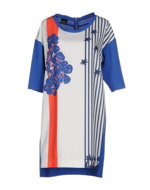 Короткое платье PF PAOLA FRANI. Цвет: лазурный