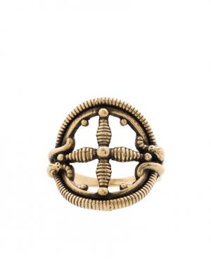 Кольцо из латуни Pamela Love. Цвет: золотой