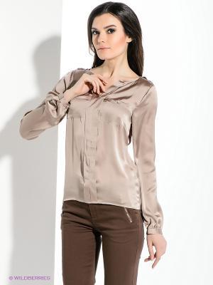 Блузка Viaggio. Цвет: коричневый