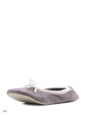 Носки-тапочки HOBBY LINE. Цвет: серо-коричневый