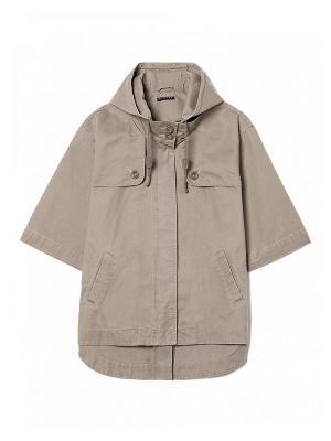 Куртка Sisley. Цвет: бежевый