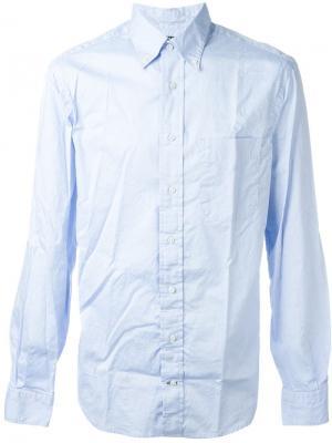 Классическая рубашка Gitman Vintage. Цвет: синий