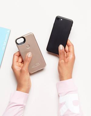 Lumee Золотистый матовый чехол для iPhone 6/6S/7 II. Цвет: мульти
