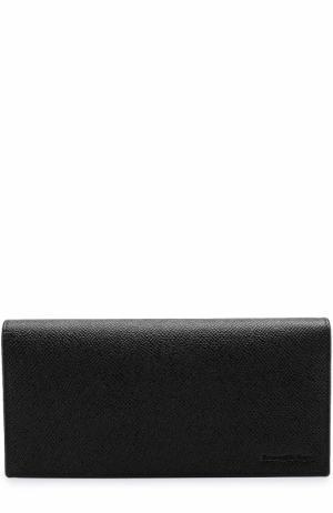 Кожаное портмоне с отделениями для кредитных карт и монет Ermenegildo Zegna. Цвет: черный