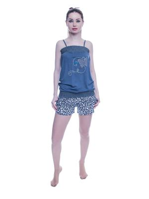 Пижама NICOLETTA. Цвет: серый