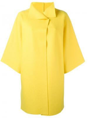 Свободное пальто Harris Wharf London. Цвет: жёлтый и оранжевый