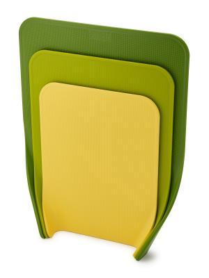 Набор из 3 разделочных досок Nest зеленый Joseph. Цвет: зеленый, салатовый, светло-желтый