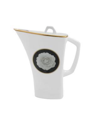 Чайник  Porto Elff Ceramics. Цвет: белый, черный