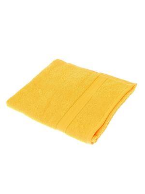 Махровое полотенце Aisha. Цвет: желтый