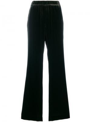 Бархатные широкие брюки Dorothee Schumacher. Цвет: зелёный