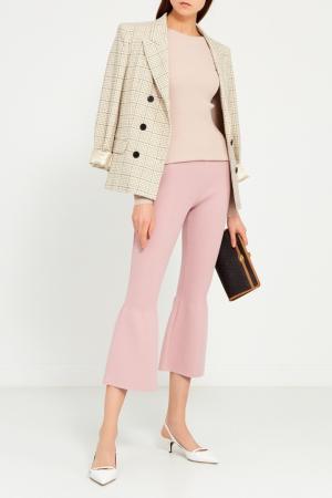 Трикотажные брюки-клеш Knittedkiss. Цвет: фиолетовый