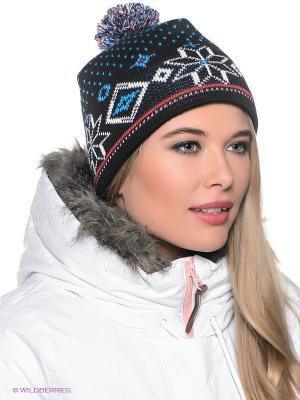 Шапка Viking caps&gloves. Цвет: черный, белый, голубой