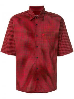 Рубашка Ami de Coeur с короткими рукавами Alexandre Mattiussi. Цвет: красный