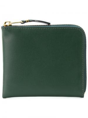 Классический кошелек Comme Des Garçons Wallet. Цвет: зелёный