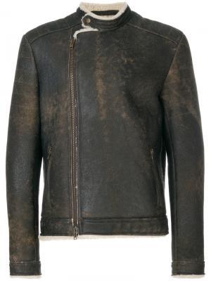 Пальто из овчины Salvatore Santoro. Цвет: коричневый