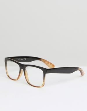 Jeepers Peepers Круглые очки. Цвет: черный