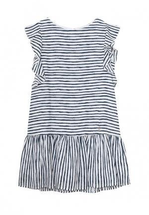 Платье Button Blue. Цвет: черно-белый