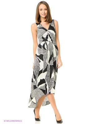 Платье ESPRIT. Цвет: бежевый, черный