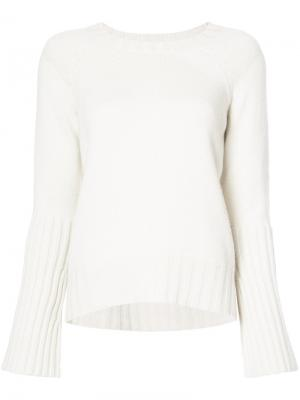 Crewneck ribbed sweater Nili Lotan. Цвет: телесный
